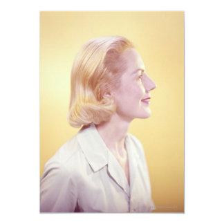 Blonde Woman 13 Cm X 18 Cm Invitation Card