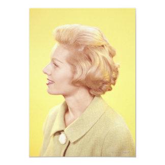 Blonde Woman 2 13 Cm X 18 Cm Invitation Card
