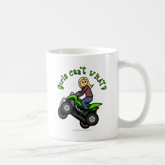 Blonde Woman ATV | Four Wheeler Driver Basic White Mug