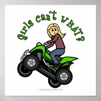 Blonde Woman ATV Four Wheeler Driver Print