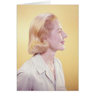 Blonde Woman Card