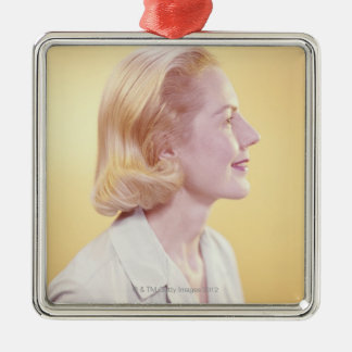Blonde Woman Christmas Ornament