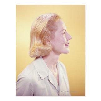 Blonde Woman Postcard