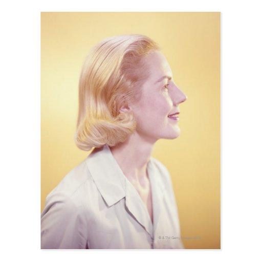 Blonde Woman Post Card