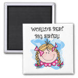 Blonde World's Best Big Sister Tshirts and Gifts Square Magnet