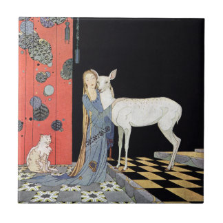Blondine by Virginia Frances Sterrett Tile