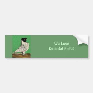 Blondinette Frill Pigeon Bumper Sticker