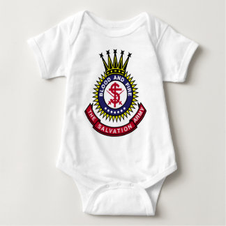 Blood and Fire Salvation Army Classic Logo Baby Bodysuit