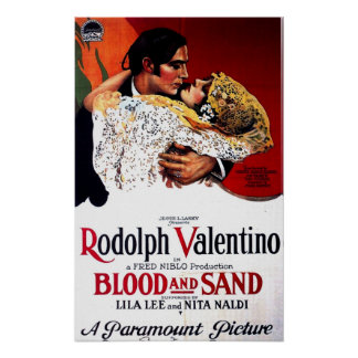 Blood and Sand, Valentino Movie Poster