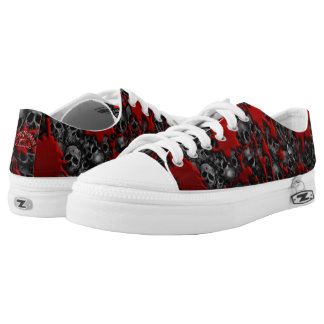 Blood and skulls series #1 low tops