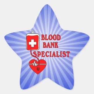 BLOOD BANK SPECIALIST STAR STICKER