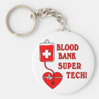 BLOOD BANK SUPER TECH BASIC ROUND BUTTON KEY RING