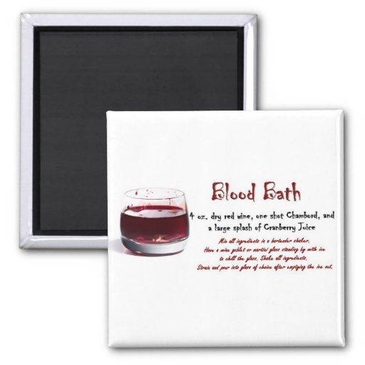 Blood Bath drink recipe Fridge Magnets