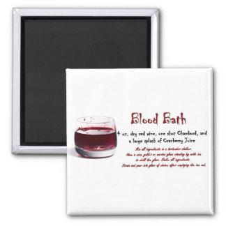 Blood Bath drink recipe Square Magnet