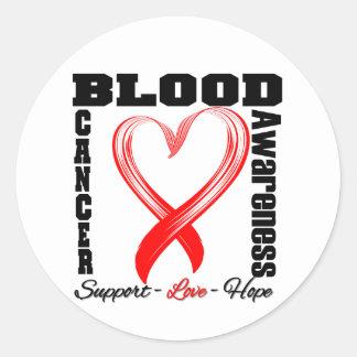 Blood Cancer Awareness Brushed Heart Ribbon Sticker