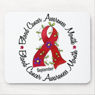 Blood Cancer Awareness Month Flower Ribbon 3 Mouse Pads