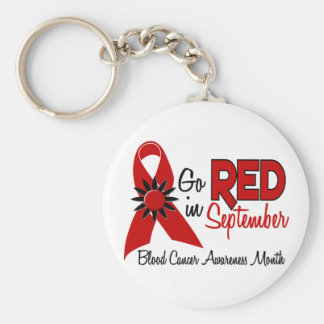 Blood Cancer Awareness Month Flowers 2 Basic Round Button Key Ring