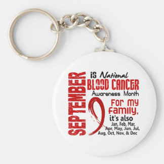Blood Cancer Awareness Month For My Family Basic Round Button Key Ring