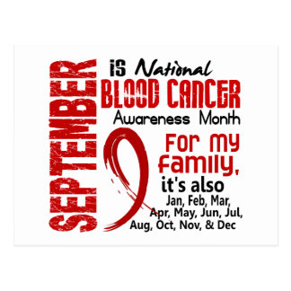 Blood Cancer Awareness Month For My Family Post Card