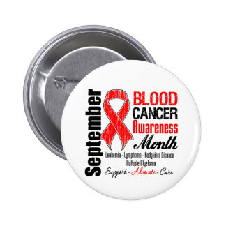 Blood Cancer Awareness Month Red Ribbon Pinback Buttons