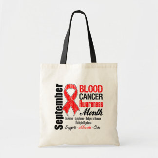 Blood Cancer Awareness Month Red Ribbon Bag