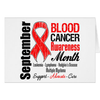Blood Cancer Awareness Month Red Ribbon Card