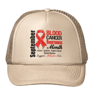 Blood Cancer Awareness Month Red Ribbon Hat