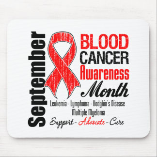 Blood Cancer Awareness Month Red Ribbon Mouse Pad