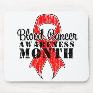 Blood Cancer Awareness Month Red Ribbon Mousepad