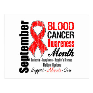 Blood Cancer Awareness Month Red Ribbon Post Card