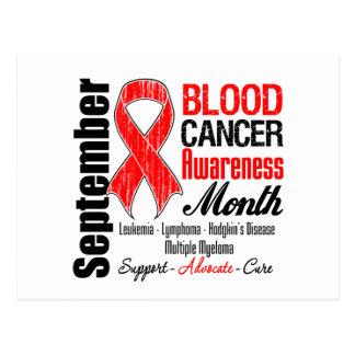 Blood Cancer Awareness Month Red Ribbon Postcard
