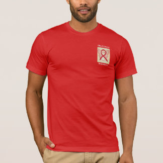 Blood Cancer Awareness Red Ribbon Angel Tee