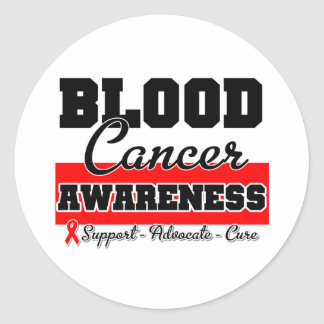 Blood Cancer Awareness Round Stickers