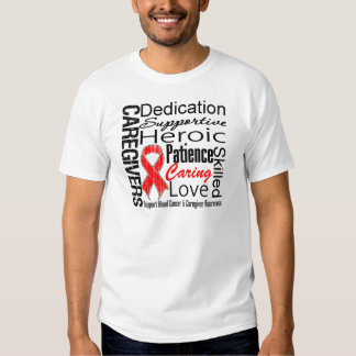 Blood Cancer Caregivers Collage Tshirts
