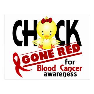 Blood Cancer Chick Gone Red 2 Postcard