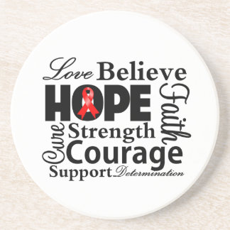 Blood Cancer Collage of Hope Drink Coaster