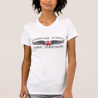 Blood Cancer Courage Faith Wings Tee Shirt
