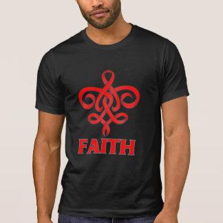 Blood Cancer Faith Fleur de Lis Ribbon Tees