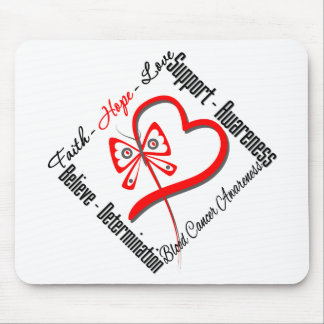 Blood Cancer Faith Hope Love Butterfly Mouse Pad