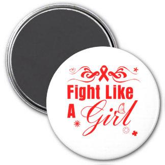 Blood Cancer Fight Like A Girl Ornate Fridge Magnets