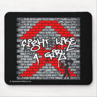 Blood Cancer Graffiti Wall Fight Like A Girl Mousepad