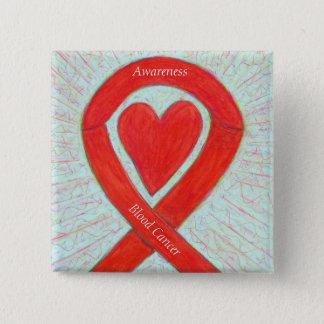 Blood Cancer Heart Awareness Ribbon Custom Pin