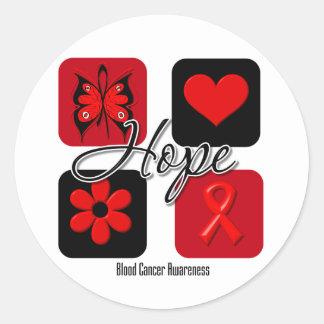 Blood Cancer Hope Love Inspire Awareness Round Sticker