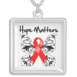 Blood Cancer Hope Matters Square Pendant Necklace
