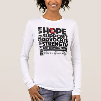 Blood Cancer Hope Support Advocate Long Sleeve T-Shirt