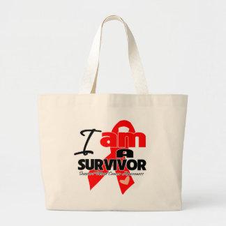 Blood Cancer - I am a Survivor Jumbo Tote Bag