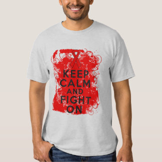 Blood Cancer Keep Calm and Fight On Tee Shirts