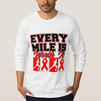 Blood Cancer Mens Every Mile is Worth It T-shirt