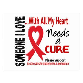 Blood Cancer Needs A Cure 3 Postcard