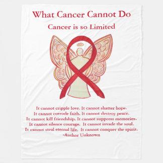 Blood Cancer Red Awareness Ribbon Angel Blanket